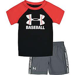Under Armour® Size 24M 2-Piece Baseball Shirt and Short Set