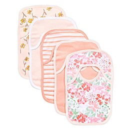 Burt's Bees Baby® 5-Pack Tossed Succulent Organic Cotton Bibs in Pink
