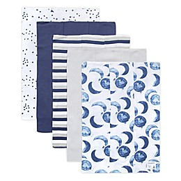 Burt's Bees Baby® 5-Pack Hello Moon Organic Cotton Burp Cloths in Indigo