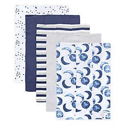 Burt's Bees Baby® 5-Pack Hello Moon Organic Cotton Burp Cloths in Indigo