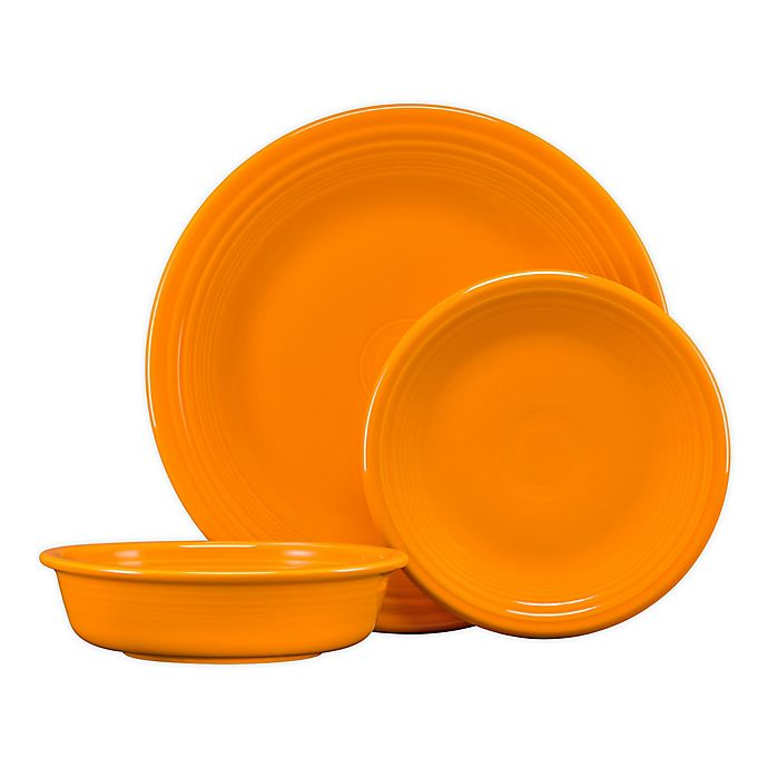 Alternate image 1 for Fiesta® 3-Piece Classic Place Setting in Butterscotch