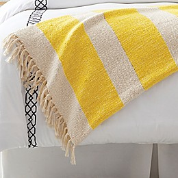 One Kings Lane Open House™ Textured Throw Blanket in Yellow