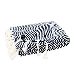 One Kings Lane Open House™ Bennington Throw Blanket in Blue