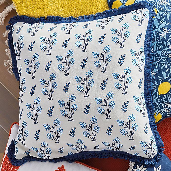 Alternate image 1 for One Kings Lane Open House™ Worthington Square Throw Pillow in Blue/White