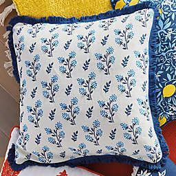 One Kings Lane Open House™ Worthington Square Throw Pillow in Blue/White