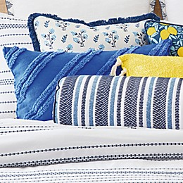 One Kings Lane Open House™ Tolland Oblong Throw Pillow in Blue