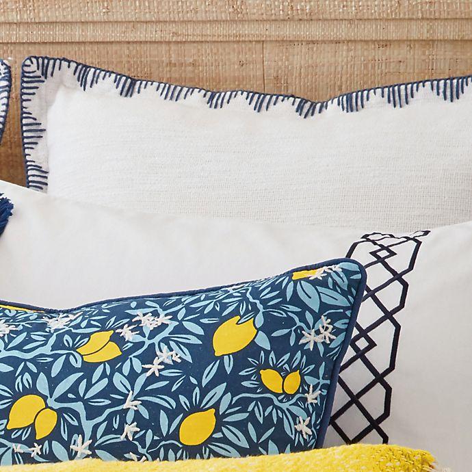 Alternate image 1 for One Kings Lane Open House™ Amherst European Pillow Sham in White