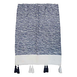 One Kings Lane Open House™ Heathered Reversible Throw Blanket in Navy/White