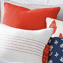 One Kings Lane Open House™ Pellham Square Throw Pillow in Paprika