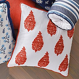 One Kings Lane Open House™ Paxton Square Throw Pillow in Paprika