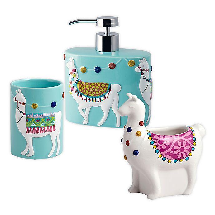 llamas 3-piece bath accessory set | bed bath & beyond