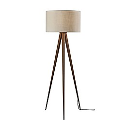 Adesso® Director Floor Lamp in Walnut