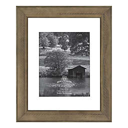 Bee & Willow™ Home 8-Inch x 10-Inch Matted Wood Picture Frame in Light Chocolate