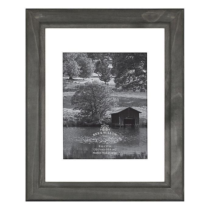 Alternate image 1 for Bee & Willow™ Home 8-Inch x 10-Inch Matted Wood Picture Frame in Oxford Black