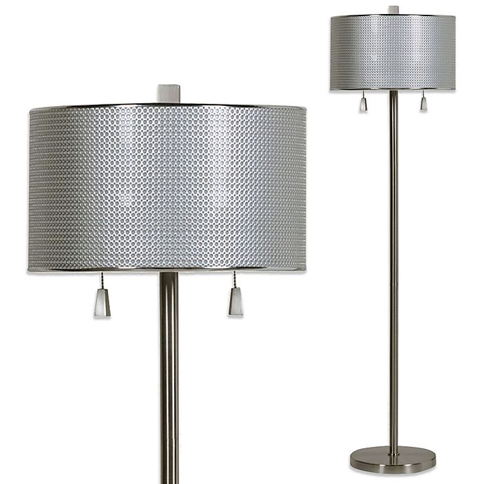 Alternate image 1 for Circles Floor Lamp in Brushed Steel