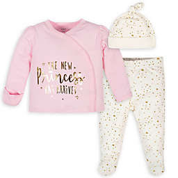 Gerber® Size 0-3M 3-Piece New Princess Take-Me-Home Set