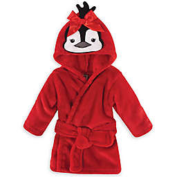 Hudson Baby® Size 0-9M Penguin Plush Robe in Red
