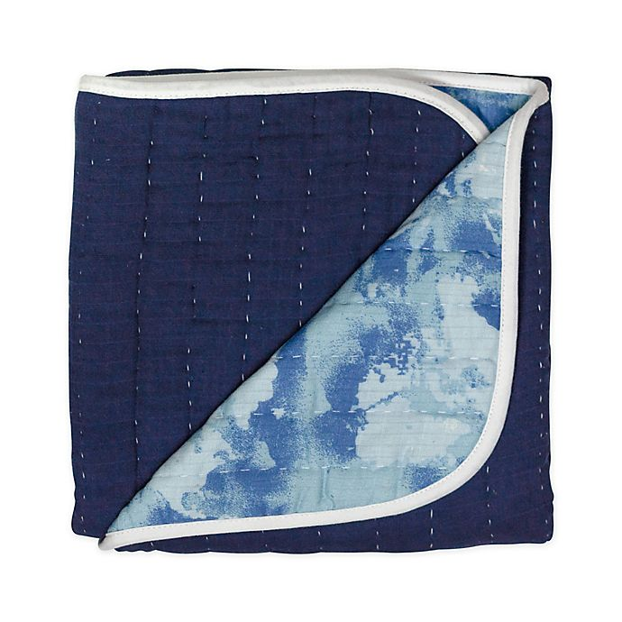 Alternate image 1 for The Honest Company® Watercolor World Organic Cotton Quilted Blanket