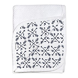 The Honest Company Honest Separates Organic Cotton Receiving Blanket in White/Blue