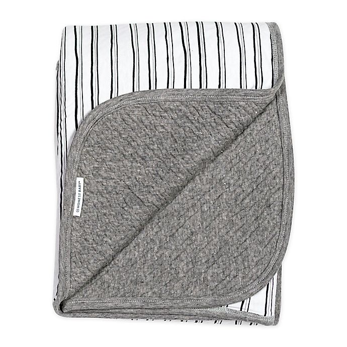 Alternate image 1 for The Honest Company Honest Separates Sketchy Stripe Receiving Blanket
