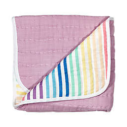 The Honest Company® Rainbow Stripe Organic Cotton Quilted Blanket