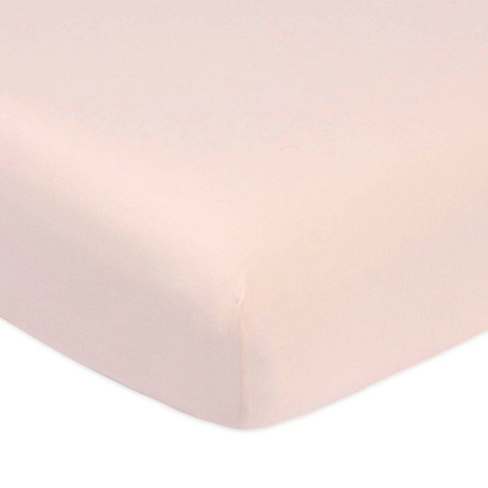 Alternate image 1 for Marmalade™ Cotton Jersey Knit Fitted Crib Sheet in Mauve