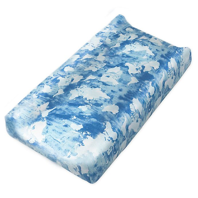 Alternate image 1 for The Honest Company® Watercolor World Organic Cotton Changing Pad Cover