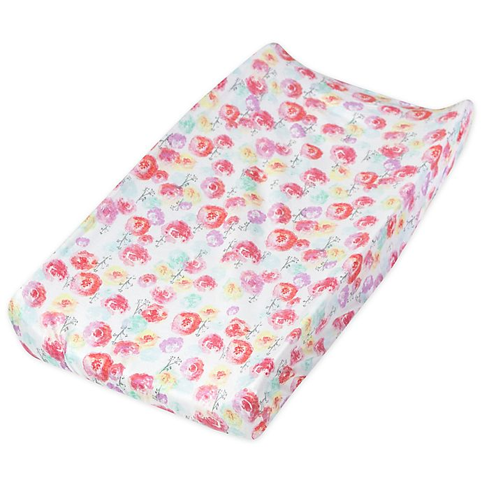 Alternate image 1 for The Honest Company® Rose Blossom Organic Cotton Changing Pad Cover