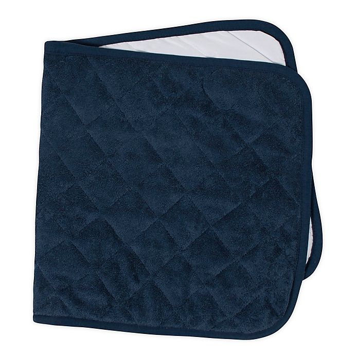 Alternate image 1 for Marmalade™ Waterproof Quilted Changing Pad in Navy