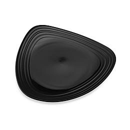 Mikasa® Swirl Triangle Dinner Plate in Black
