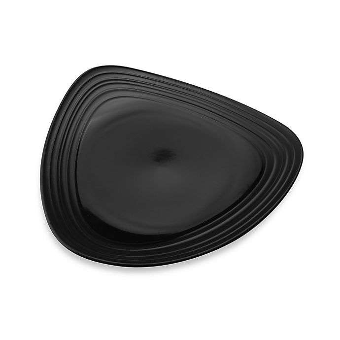 Alternate image 1 for Mikasa® Swirl Triangle Dinner Plate in Black