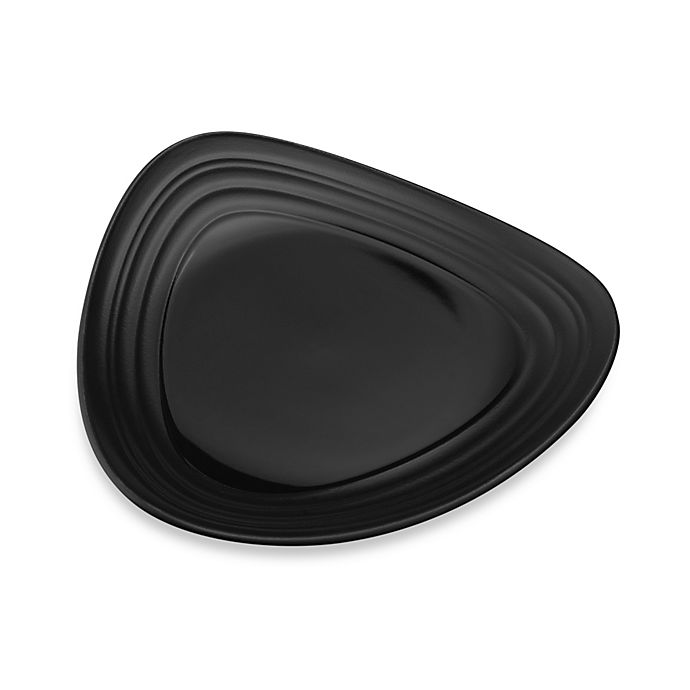 Alternate image 1 for Mikasa® Swirl Triangle Salad Plate in Black