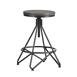 Hillsdale Furniture Stella Adjustable Backless Stool in Grey