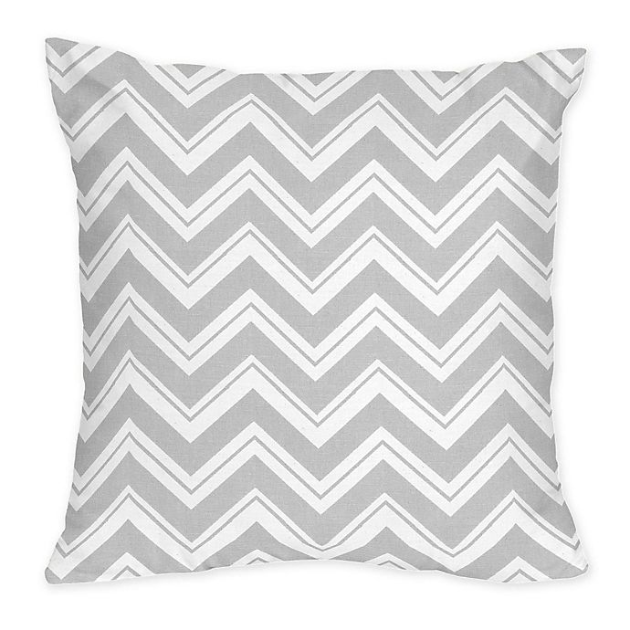 Alternate image 1 for Sweet Jojo Designs Zig Zag Decorative Pillow