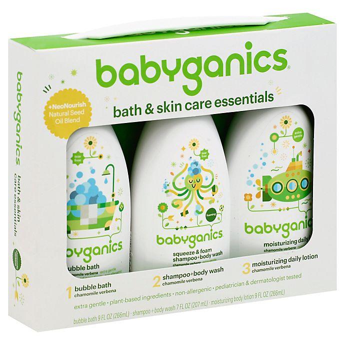 Alternate image 1 for Babyganics® Bath and Skincare Essentials in Chamomile Verbana (Set of 3)