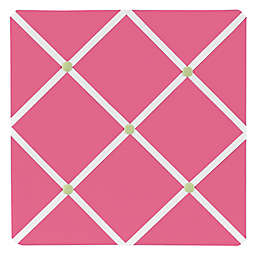 Sweet Jojo Designs Flower Fabric Memo Board in Pink/Green