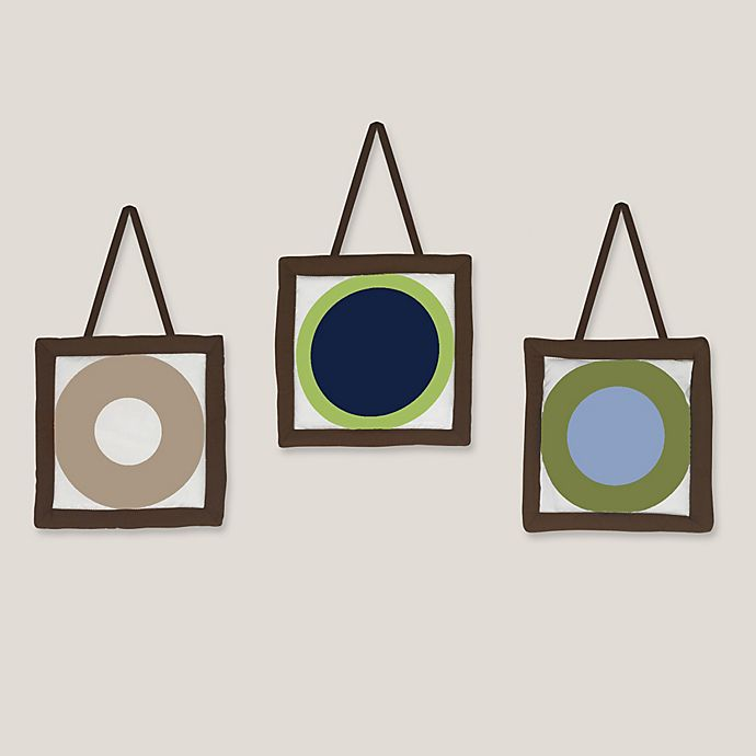 Alternate image 1 for Sweet Jojo Designs Designer Dot 3-Piece Wall Hanging Set