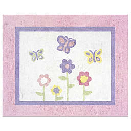 Sweet Jojo Designs® Butterfly Floor Rug in Pink/Purple