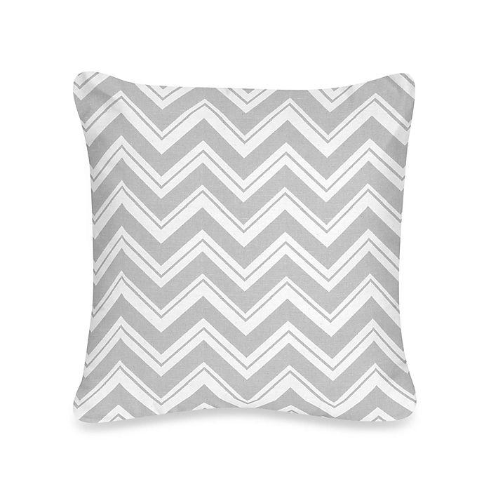 Alternate image 1 for Sweet Jojo Designs Zig Zag Chevron Throw Pillow in Turquoise