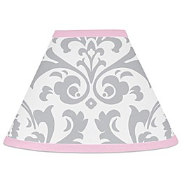 Sweet Jojo Designs Elizabeth Lamp Shade in Pink/Grey
