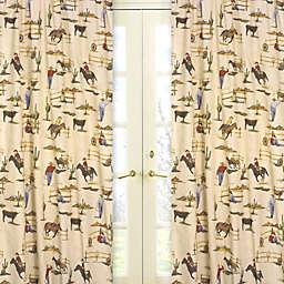 Sweet Jojo Designs Wild West 84-Inch Cowboy Print Window Panels (Set of 2)