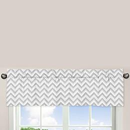Sweet Jojo Designs Zig Zag Chevron Window Valance in Turquoise/Grey