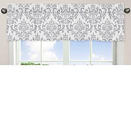 Sweet Jojo Designs Elizabeth Window Valance in Pink/Grey