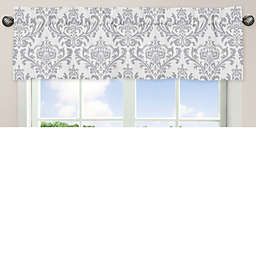 Sweet Jojo Designs Elizabeth Window Valance in Pink/Grey