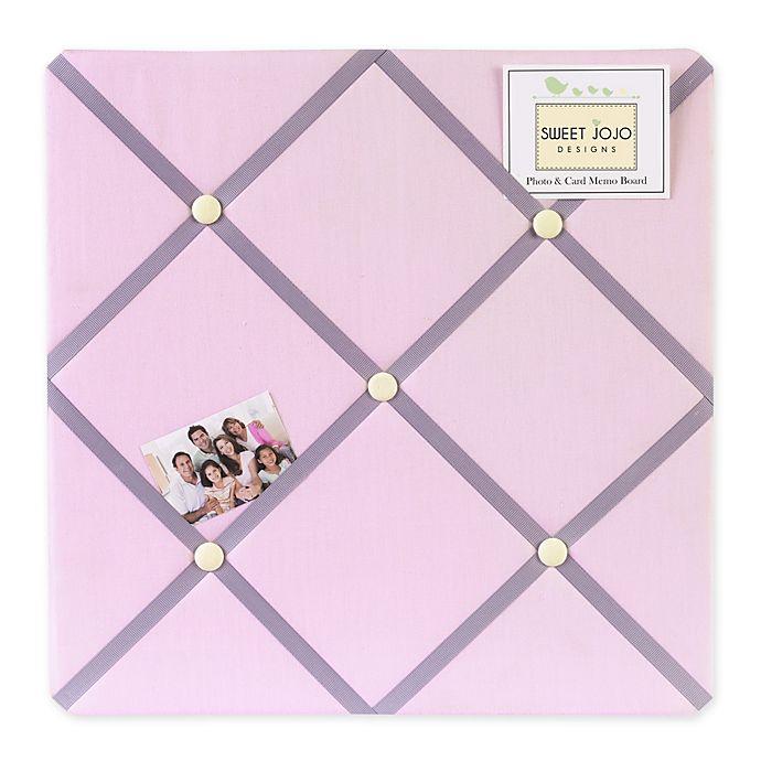 Alternate Image 1 For Sweet Jojo Designs Erfly Fabric Memo Board In Pink Purple