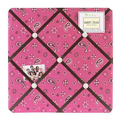 Sweet Jojo Designs Cowgirl Bandana Print Fabric Memo Board