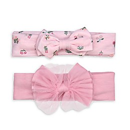 carter's® 2-Pack Jersey Bow Headwraps in Pink
