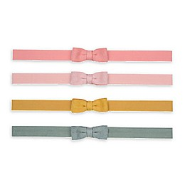 carter's® 4-Pack Mini-Bow Headwraps in Pink/Yellow/Blue