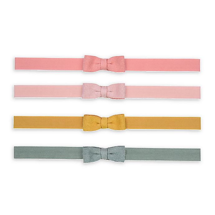Alternate image 1 for carter's® 4-Pack Mini-Bow Headwraps in Pink/Yellow/Blue