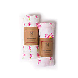 Malabar Baby 2-Pack Enchanted Garden Organic Cotton Swaddle Blankets
